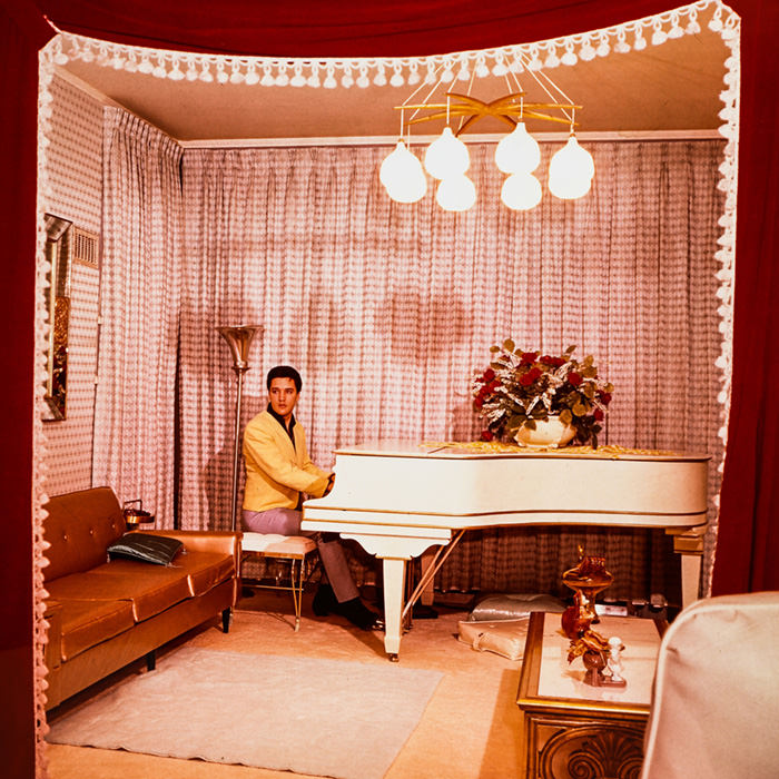elvis playing the piano