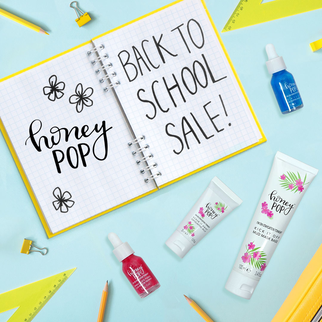 Back To School Image with HoneyPop Products