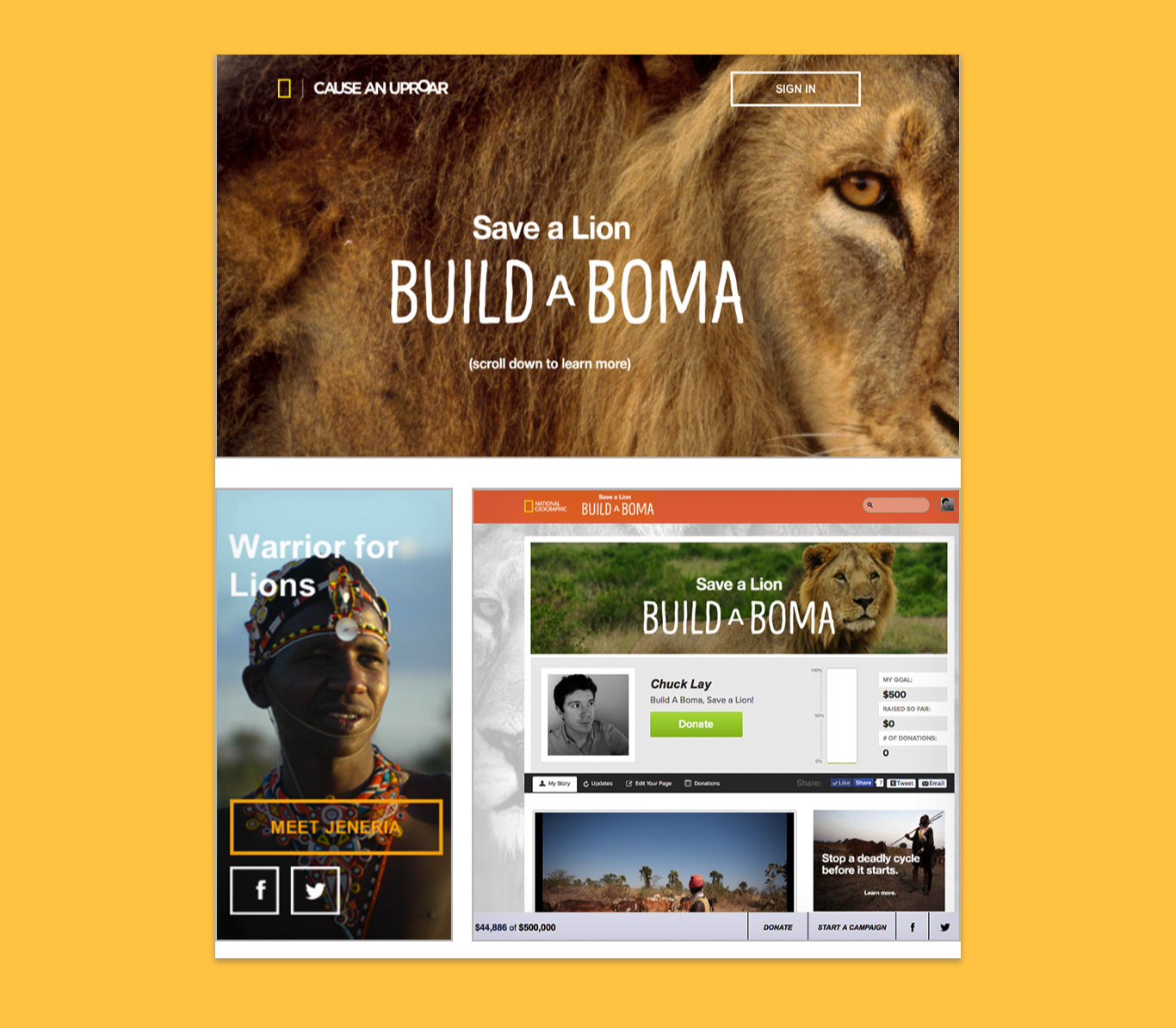 the build a boma microsite screenshot