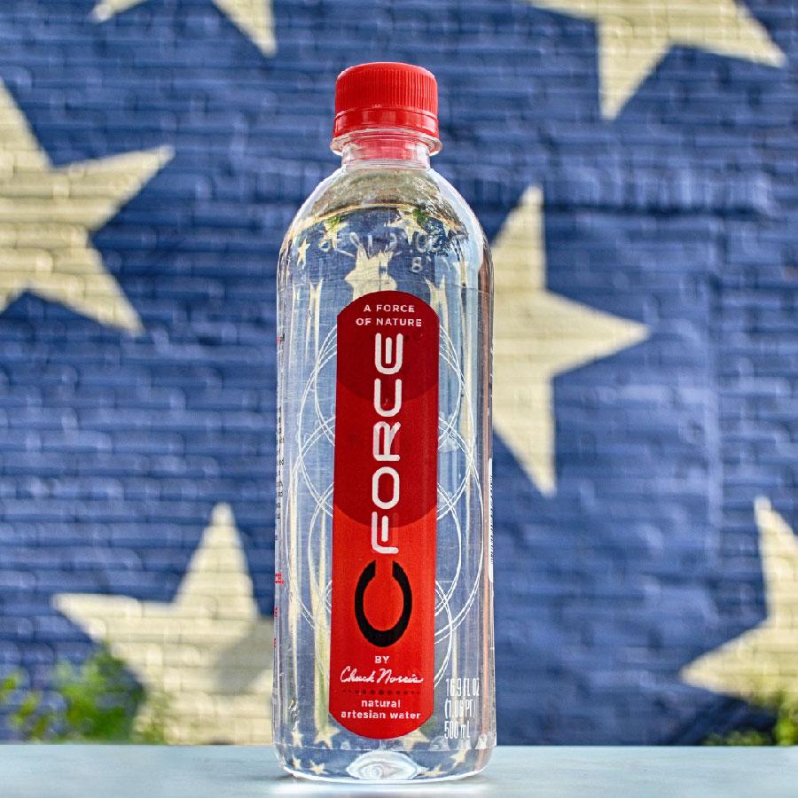 CForce bottled water by Chuck Norris