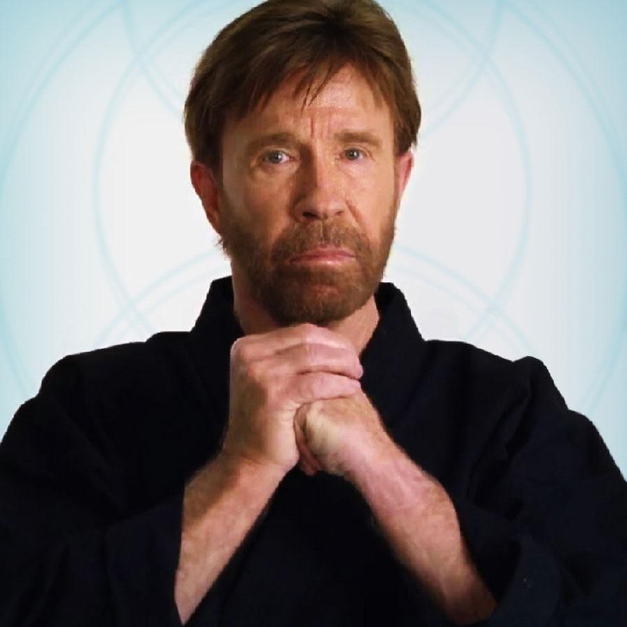 Chuck Norris looking tough