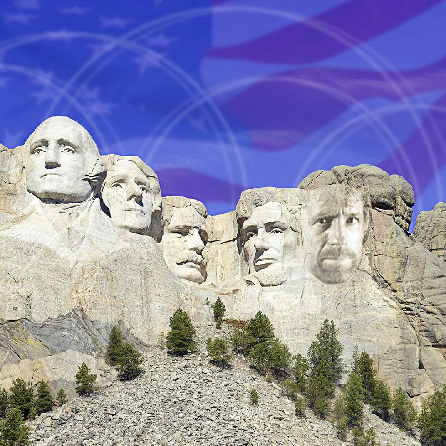 Chuck Norris' face on American landmark