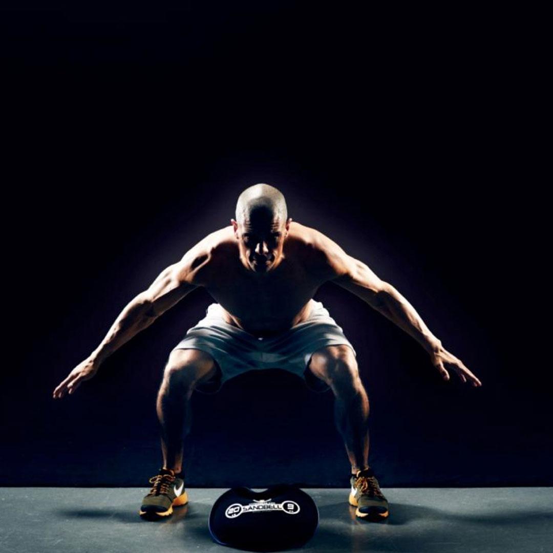 Man in workout pose