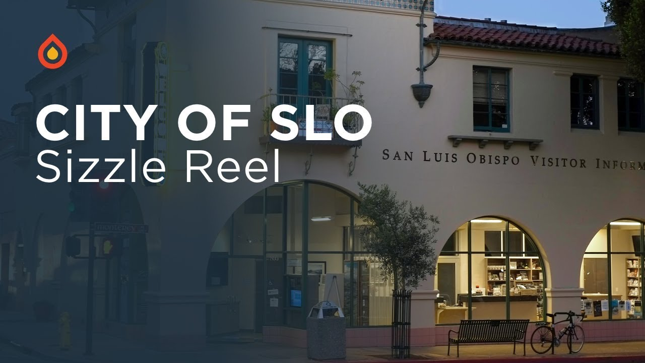 the youtube thumbnail for the city of slo sizzle real video