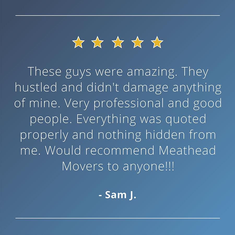 Meathead testimonial design