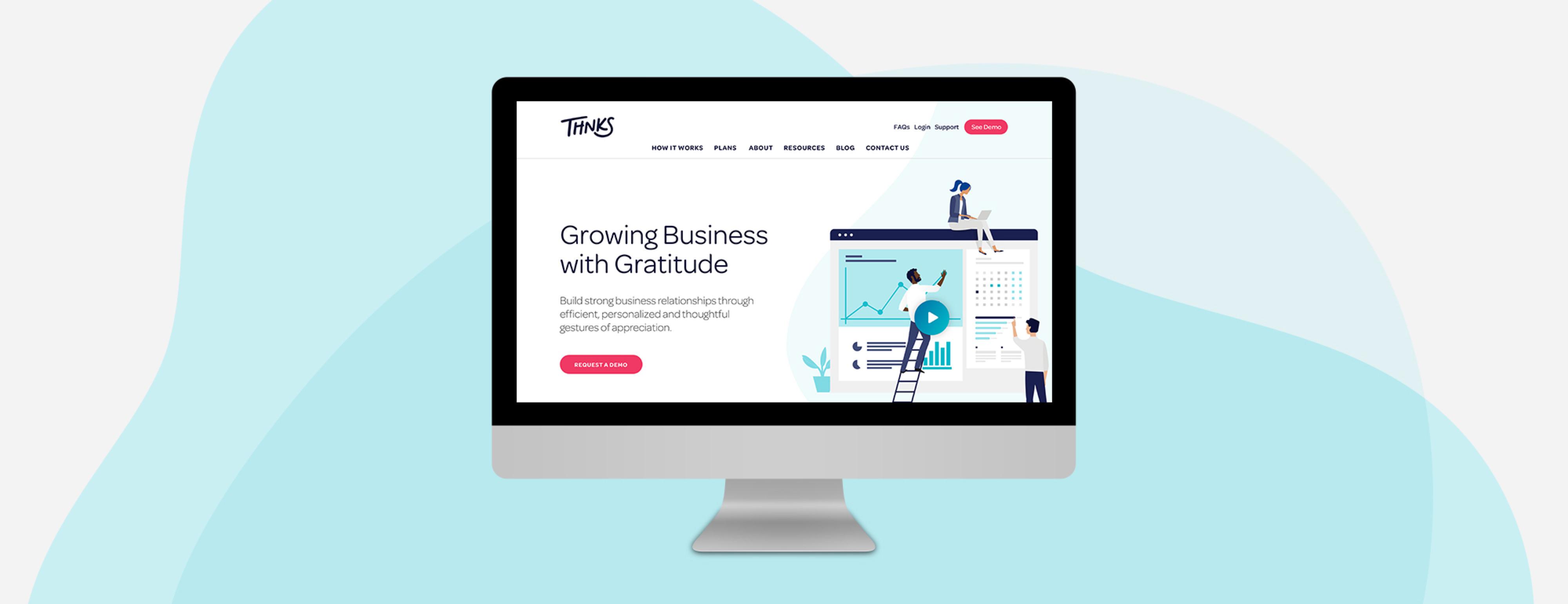 Thnks website design on imac