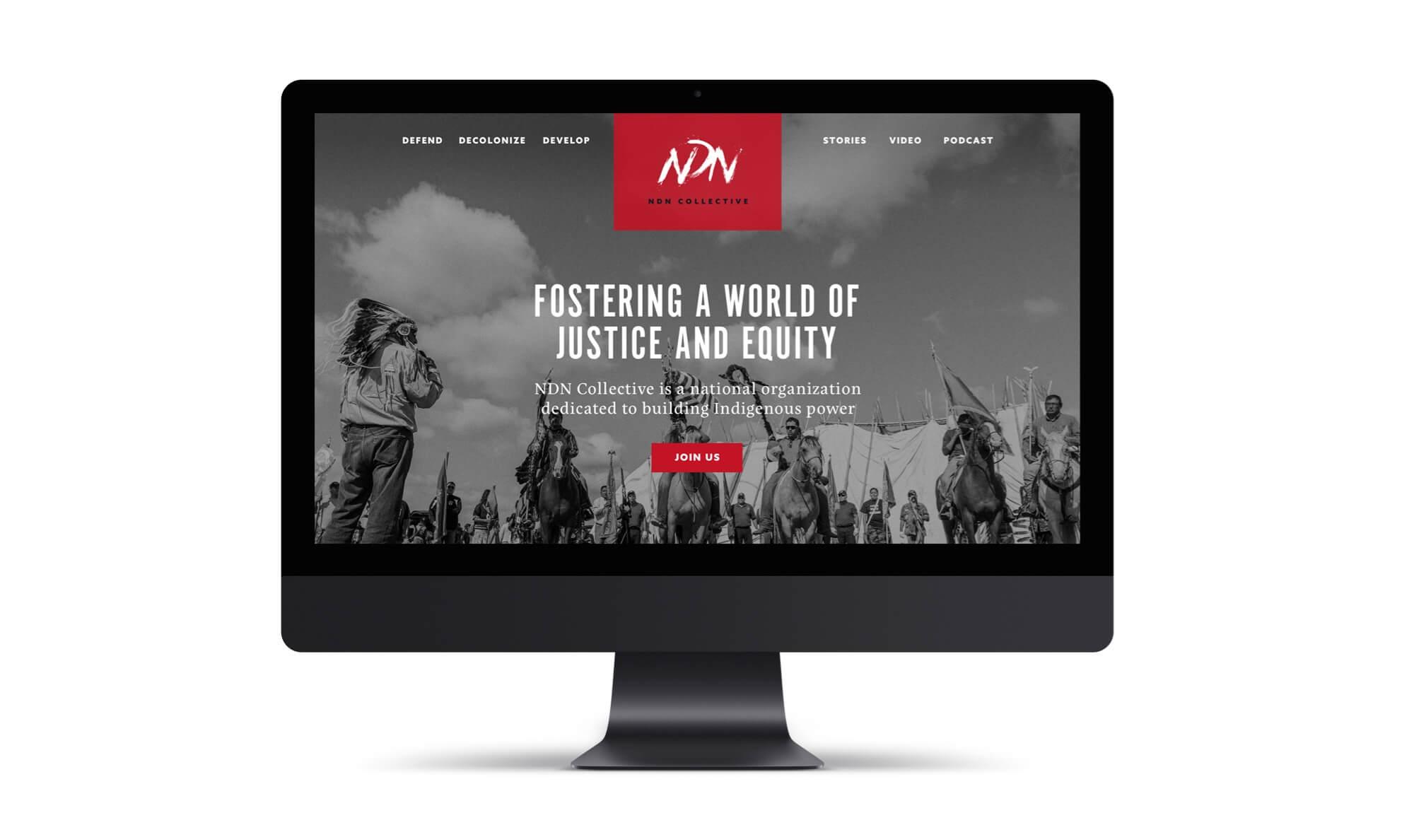 imac mock up of ndn website