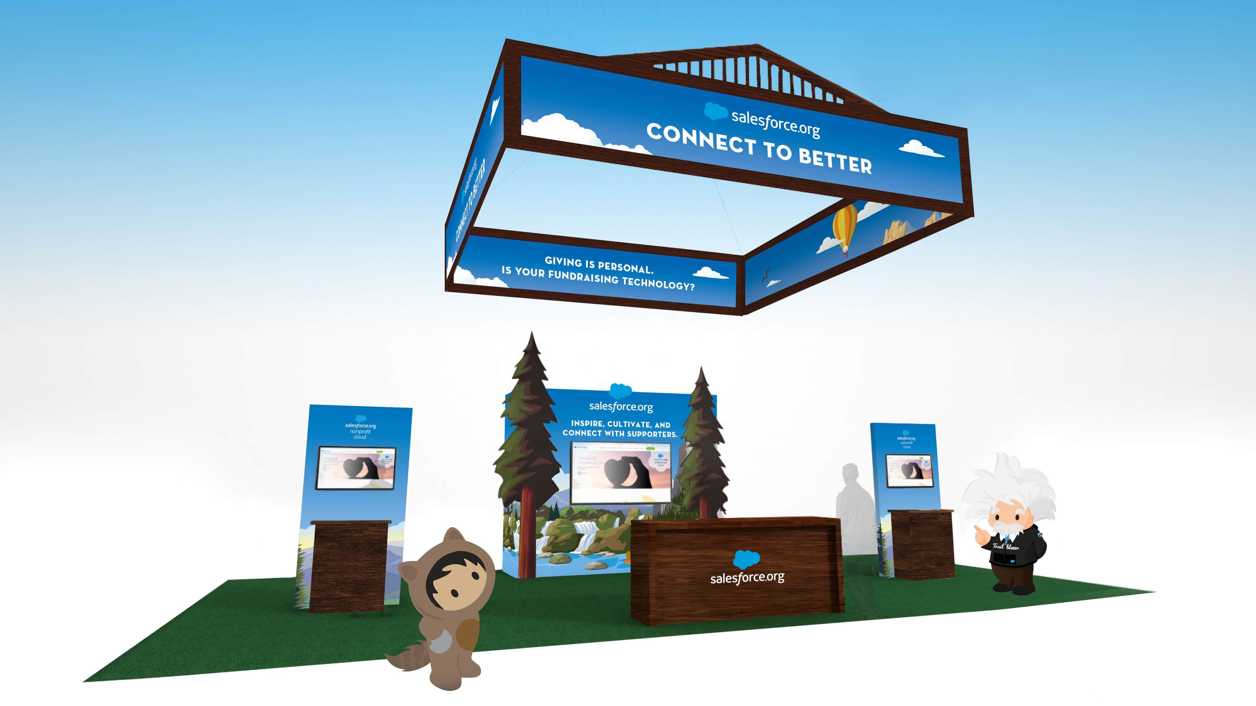a mock up of an experiential marketing campaign booth