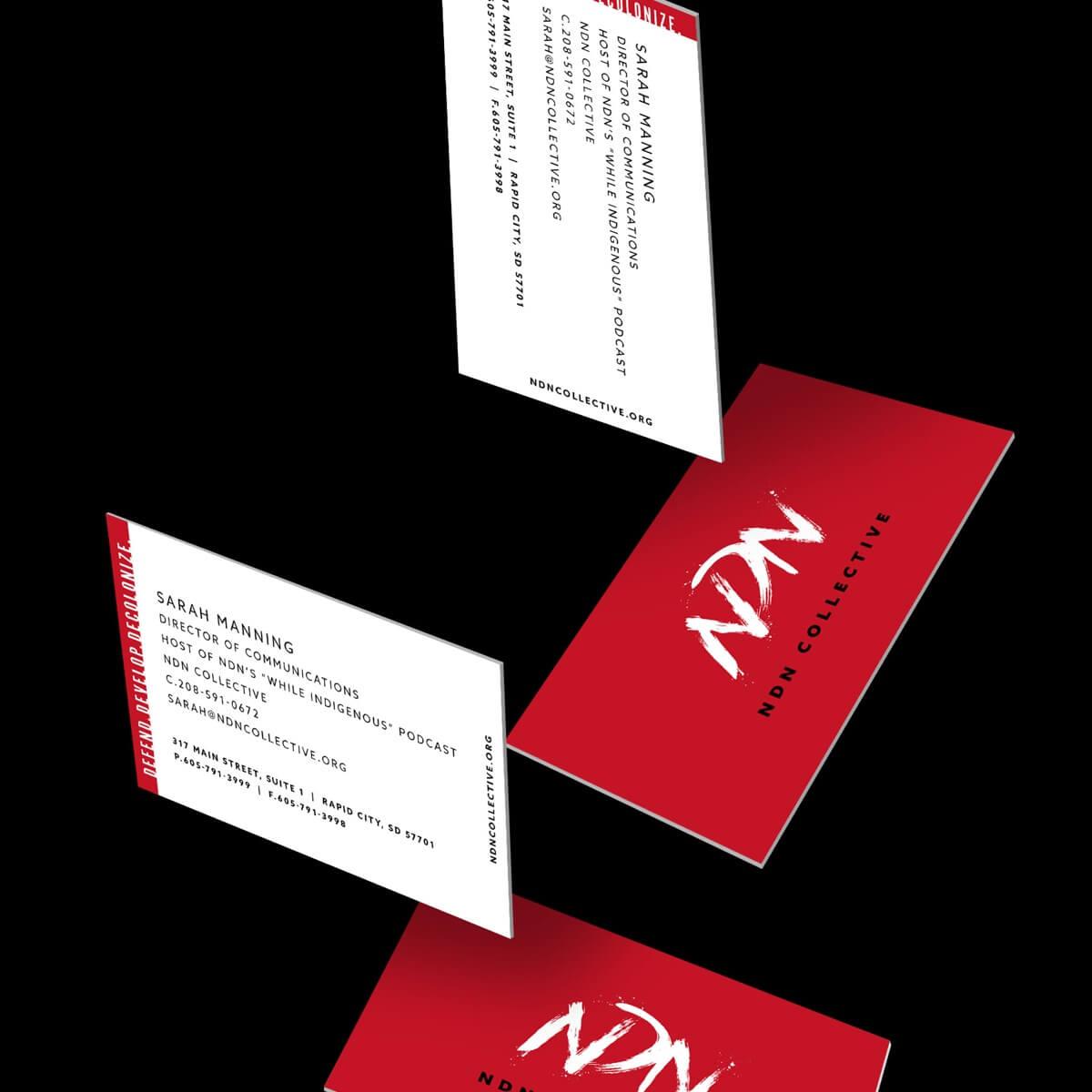 NDN business card mock ups
