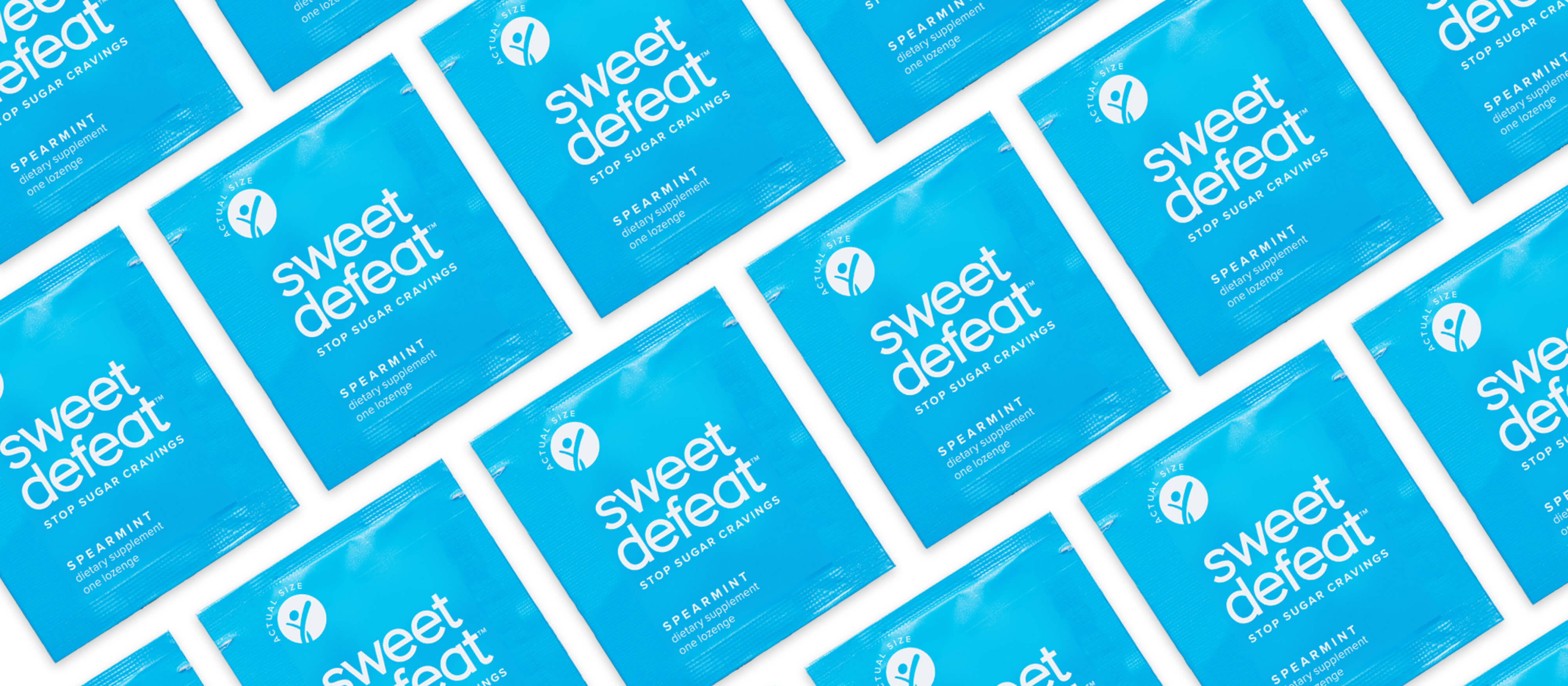 sweet defeat lozenge packaging pattern