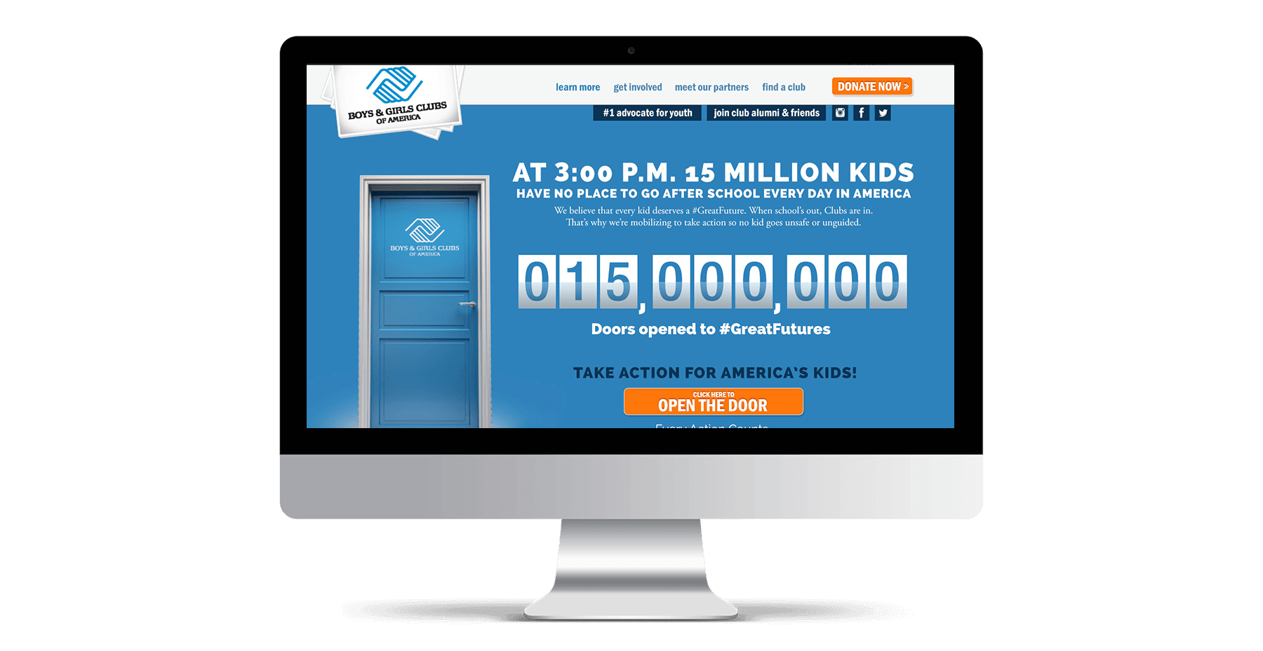 Website Mockup for Boys and Girls Club