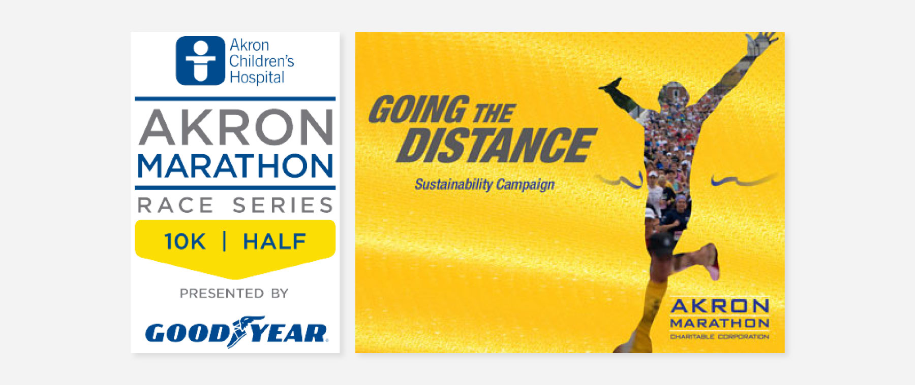 Ads created for the Akron Children's Hospital marathon