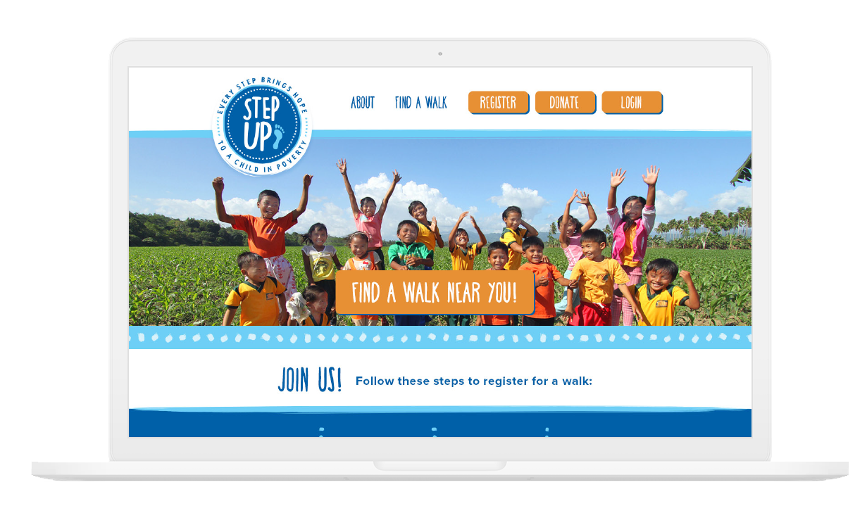 Website Mockup for compassion international