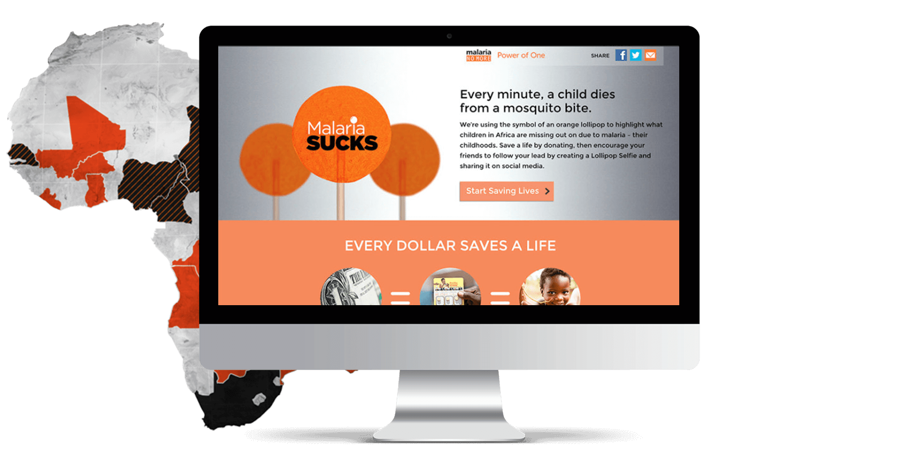 Malaria Sucks Website Mockup