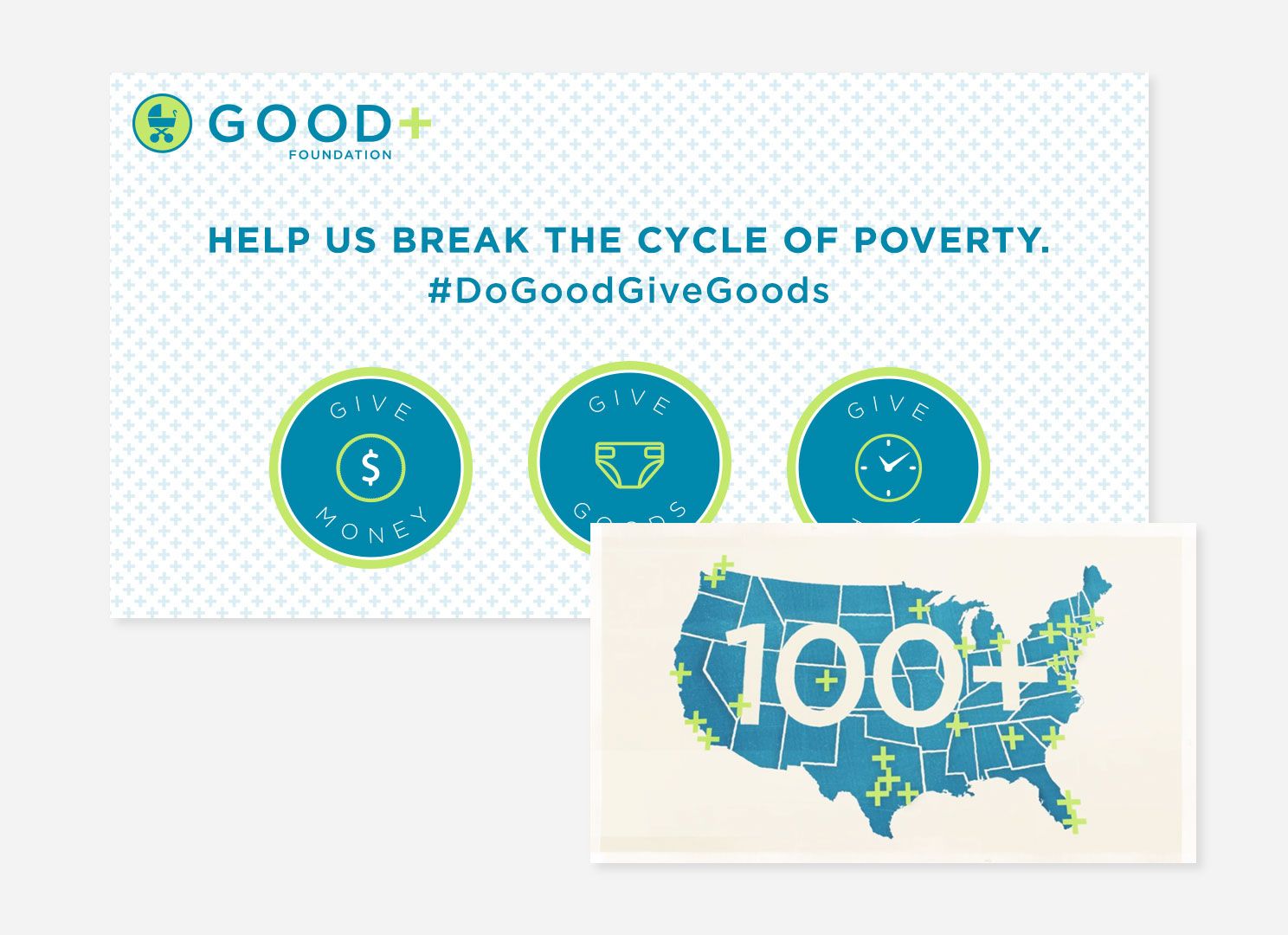 Ads created for good+ campaign