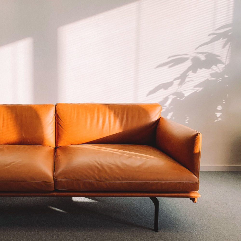 orange modern couch
