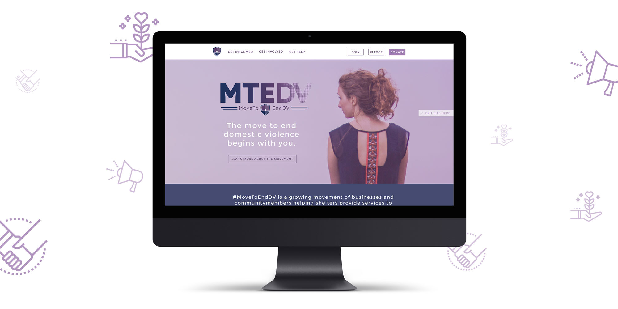Move To End DV Website Mockup