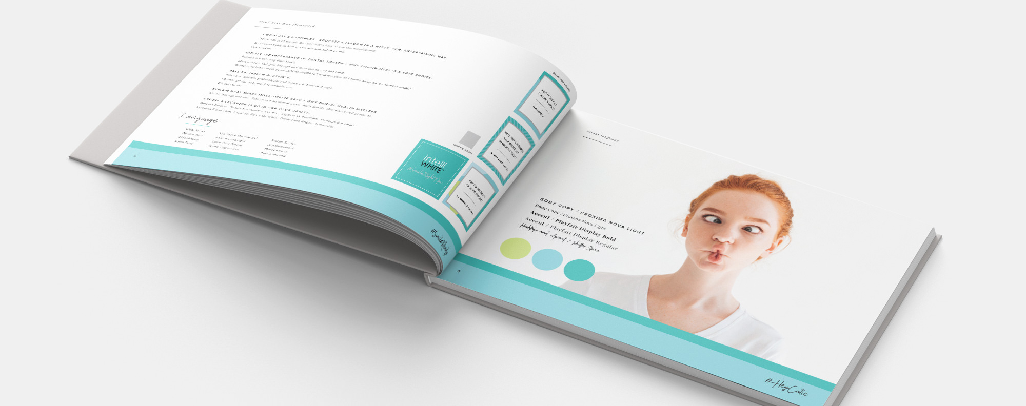 Intelliwhite brand book mockup