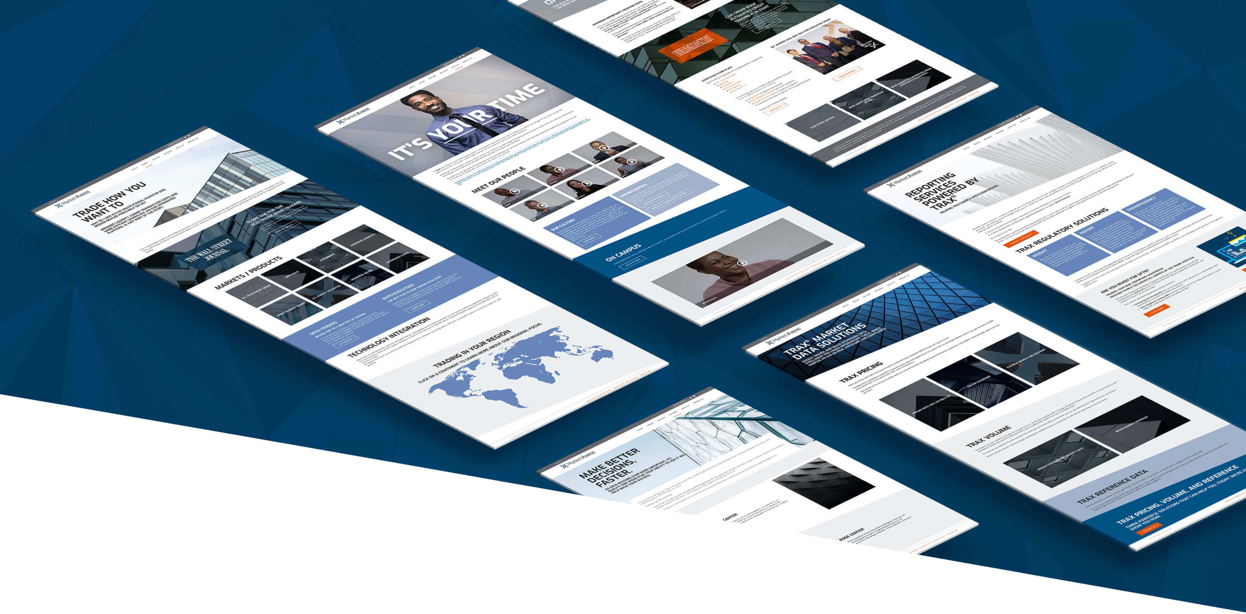 flat website comps of the MarketAxess website