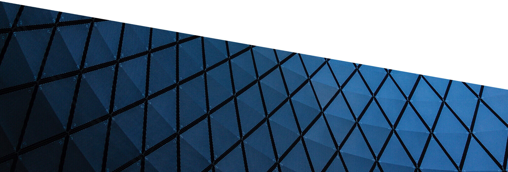 Abstract architectural details of a grid of windows