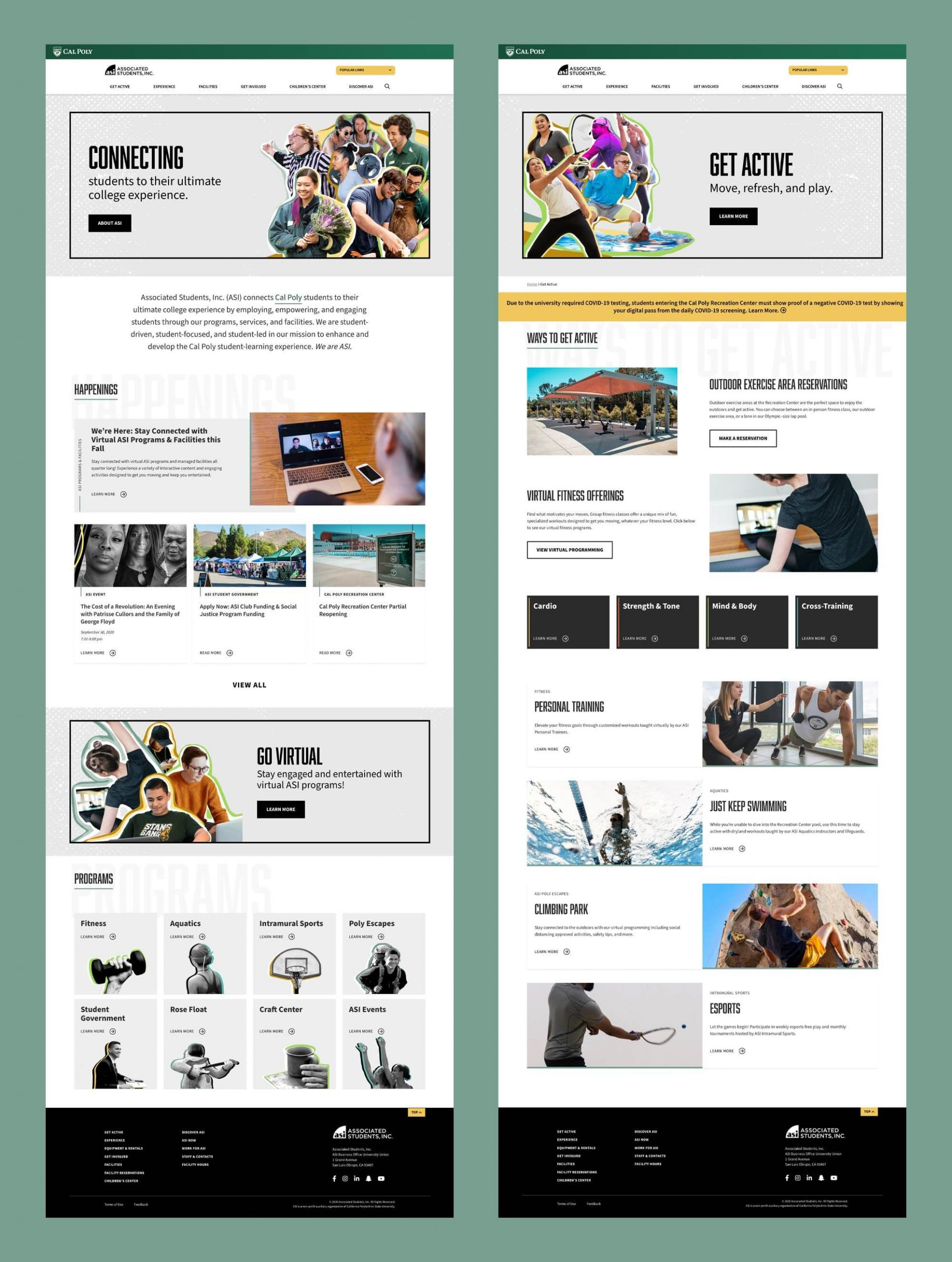 Side by side website comps for ASI